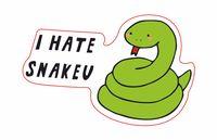 """Глянцевая наклейка """"J-hope. I hate snakeu"""" (арт. 22)"""