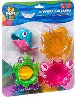 """Набор игрушек для купания """"Стаканчики с лейкой-китом"""" (5 шт.)"""
