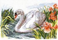 """Вышивка крестом """"Белый лебедь"""" (320х220 мм)"""