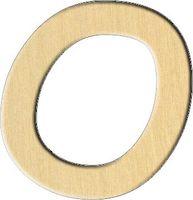 """Заготовка деревянная """"Английский алфавит. Буква O"""" (68х70 мм)"""
