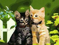 """Картина по номерам """"Котята"""" (400x500 мм; арт. MG180)"""