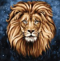 """Алмазная вышивка-мозаика """"Созвездие льва"""" (380х380 мм)"""