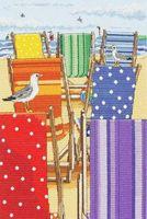 """Вышивка крестом """"Разноцветные лежаки"""""""