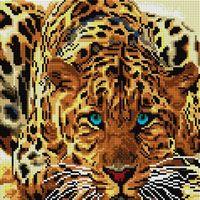 "Алмазная вышивка-мозаика ""Леопард"" (300х300 мм)"
