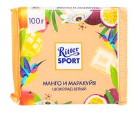 "Шоколад белый ""Ritter Sport. Крем манго-маракуя с хрустящей крошкой"" (100 г)"