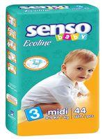 "Подгузники ""Senso baby Ecoline. Midi"" (4-9 кг, 44 шт)"