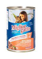 """Консервы для кошек """"Gatto"""" (405 г; лосось)"""