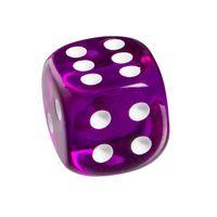 """Кубик D6 """"Прозрачный"""" (фиолетовый)"""