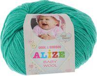 "Пряжа ""ALIZE. Baby Wool №610"" (50 г; 165 м; изумруд)"