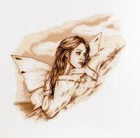"""Вышивка крестом """"Ангел вдохновение"""" (300х330 мм)"""