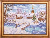 """Вышивка бисером """"Рождественская сказка"""" (270х380 мм)"""