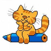 """Вышивка крестом """"Кот ученый"""""""