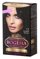 """Крем-краска для волос """"Bogema"""" (тон: 1.2, сине-черный)"""