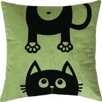 """Подушка """"Meow"""" (35x35 см; зелёная)"""