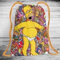 "Рюкзак-мешок ""Симпсоны"" (арт. 1)"