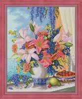 """Алмазная вышивка-мозаика """"Букет с лилиями"""" (400х500 мм)"""