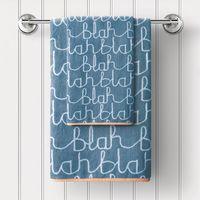 """Полотенце махровое """"Бла-бла"""" (30x50 см; голубое)"""