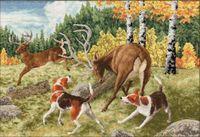"""Вышивка крестом """"Охота на оленя"""""""