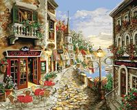 "Картина по номерам ""Прибрежный ресторан"" (400х500 мм)"