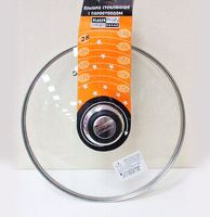 Крышка стеклянная с пароотводом (28 см; арт. 4G-008)