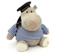 """Мягкая игрушка """"Бегемот моряк"""" (20 см)"""