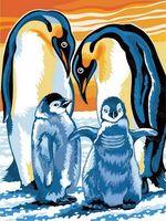 """Картина по номерам """"Пингвины"""" (300х400 мм)"""