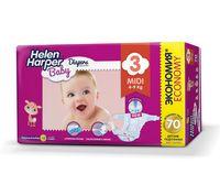 "Подгузники ""Helen Harper Baby Midi"" (4-9 кг, 70 шт)"