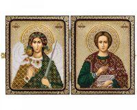 """Набор для вышивания """"Св. Вмч. Целитель Пантелеймон и Ангел Хранитель"""" (230х140 мм)"""