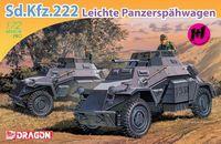 "Набор бронеавтомобилей ""Sd.Kfz.222 Leichte Panzerspahwagen"" (масштаб: 1/72)"