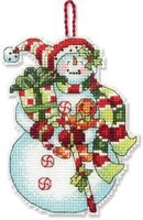 "Вышивка крестом ""Снеговик со сладостями"" (арт. DMS-70-08915)"