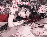 """Картина по номерам """"В лепестках роз"""" (400х500 мм)"""