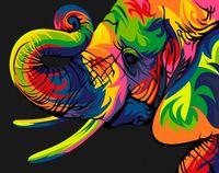 "Картина по номерам ""Радужный слон"" (165х130 мм)"