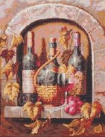 "Вышивка крестом ""Натюрморт с вином"" (260х320 мм)"
