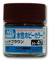 Краска Aqueous Hobby Color водоразбавляемая (red brown, H-47)