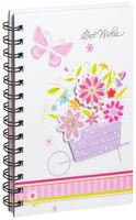 """Блокнот на спирали """"Бабочка и цветы"""" (А5; ассорти)"""