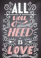 """Открытка """"All you need is love"""""""