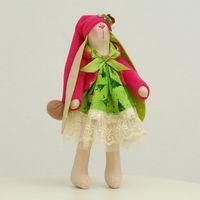 """Кукла """"Зайчиха"""" (новогодняя зайчиха в длинной шапочке)"""