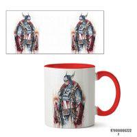 """Кружка """"Капитан Америка из вселенной MARVEL"""" (арт. 222, красная)"""