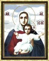 """Вышивка крестом """"Леушинская икона Божией Матери"""""""