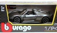 "Модель машины ""Bburago. Porsche 918 Spyder"" (масштаб: 1/24)"