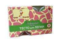 """Тесто для лепки """"Граф Жираф. Зефирные цвета"""" (6 цветов)"""