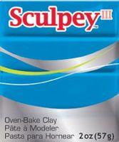 """Глина полимерная """"Sculpey III"""" (бирюзовый, 57 г)"""