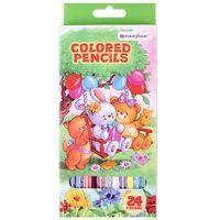 """Цветные карандаши """"Darvish"""" пластиковый корпус (24 цвета; арт. DV-118-24)"""