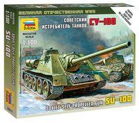 Советский истребитель танков СУ-100 (масштаб: 1/100)