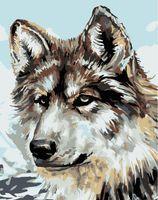 """Картина по номерам """"Серый волк"""" (165х130 мм)"""