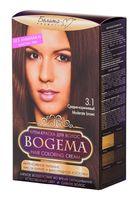 """Крем-краска для волос """"Bogema"""" (тон: 3.1, средне-коричневый)"""