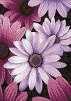 "Алмазная вышивка-мозаика ""Пурпурные маргаритки"" (270х380 мм)"