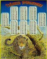 Таблица умножения (леопард)