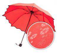 Зонт с проявляющимся рисунком (красный)