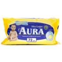 """Салфетки влажные детские """"Aura. Ultra Comfort"""" (72 шт)"""